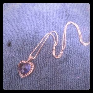 Blue Sapphire Heart of thr Ocean Necklace